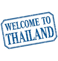 Thailand - welcome blue vintage isolated label vector