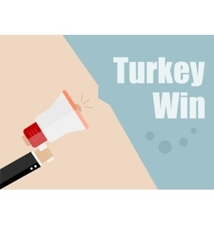 Turkey win flat design business vector