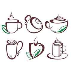 Hot drink coffee vector image