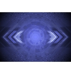 Abstract blue tech background vector