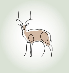 Antelope gazelle in minimal line style vector image vector image