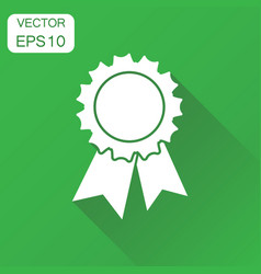 Badge with ribbon icon business concept award vector