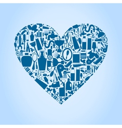 Bath heart vector image