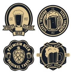 beer labels Vintage craft beer retro design vector image