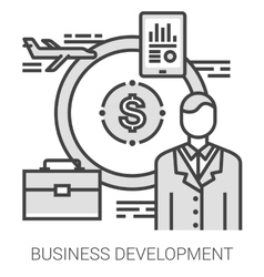 Business development line infographic vector