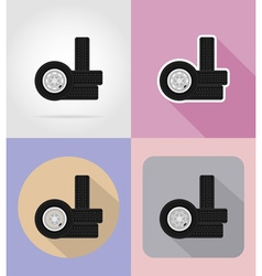 car equipment flat icons 16 vector image