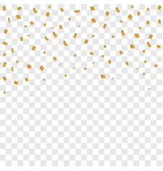 confetti on transparent background vector image vector image
