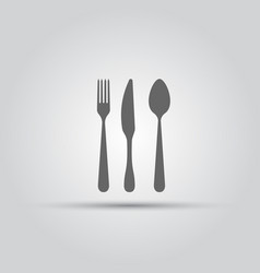 cutlery isolated silhouette vector image vector image