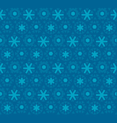 Deep blue snowflake seamless pattern vector