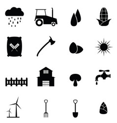 farm icon set vector image vector image