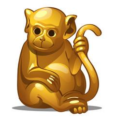 golden figure of monkey chinese horoscope symbol vector image vector image