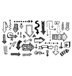 Hand drawn doodle arrow collection isolated vector
