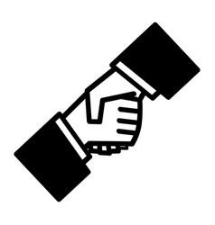 Handshake business symbol vector