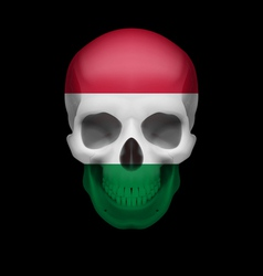 Hungarian flag skull vector