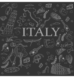 Italy line art design vector