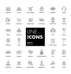 line icons set logistics vector image vector image