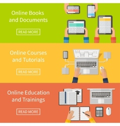Online educationonline training courses and vector image
