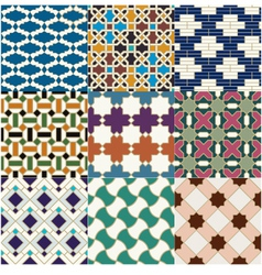 seamless islamic geometric pattern vector image vector image