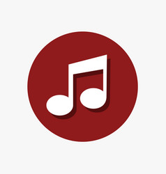 Simple musical note icon graphic vector