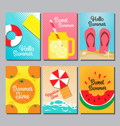 summer layout design cover book banner card vector image
