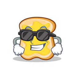 super cool slice bread cartoon character vector image vector image
