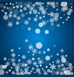 winter border with white snowflakes vector image