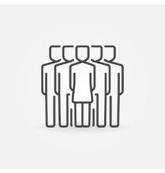 Woman leader icon vector image vector image