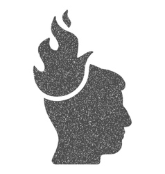 Fired head grainy texture icon vector