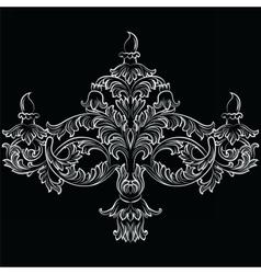 Fabulous rich baroque classic chandelier vector