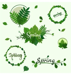Spring badges vector