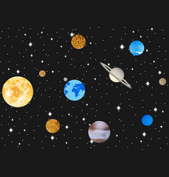 planets of the solar system outer space vector image