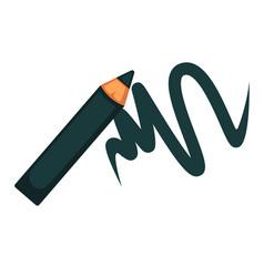 Eyeliner pencil mascara woman makeup cosmetics vector