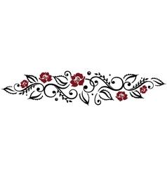 Rose leaf love vector image
