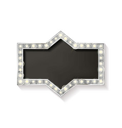 Cinema silver shape frame vector
