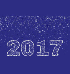 2017 happy new year on blue background stock - vector