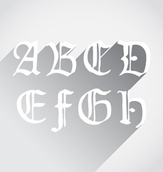 Ghotic letters vector