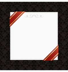 frame with ribbons vector image