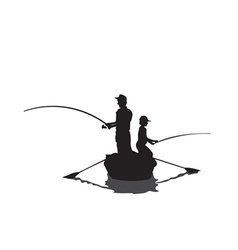 Men fishing cartoon vector