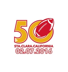 50 Pro Football Championship Santa Clara vector image