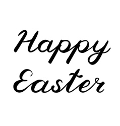 Handwritten words happy easter brush lettering vector