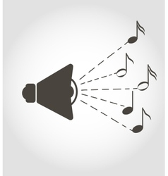 Speaker and notes sound icon vector