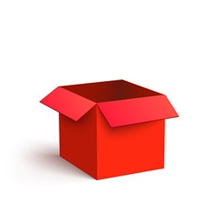 Open red box isolated on white background vector