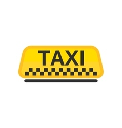 taxi car roof icon vector image