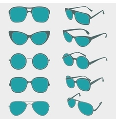 Color of sunglasses frames vector