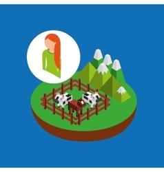 Farm countryside design vector