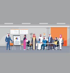 arab business people group meeting presentation vector image vector image