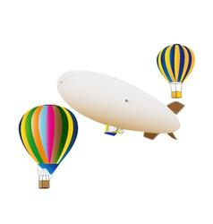 balloons and airship vector image