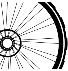 Bike wheel - on white vector image vector image