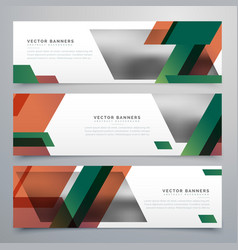 Business banners with abstract geometric shapes vector
