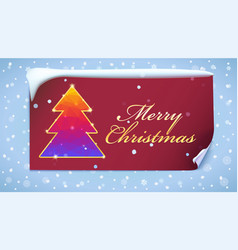 christmas tree with glitter and flashes new year vector image vector image